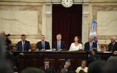Macri inauguró oficialmente el año legislativo
